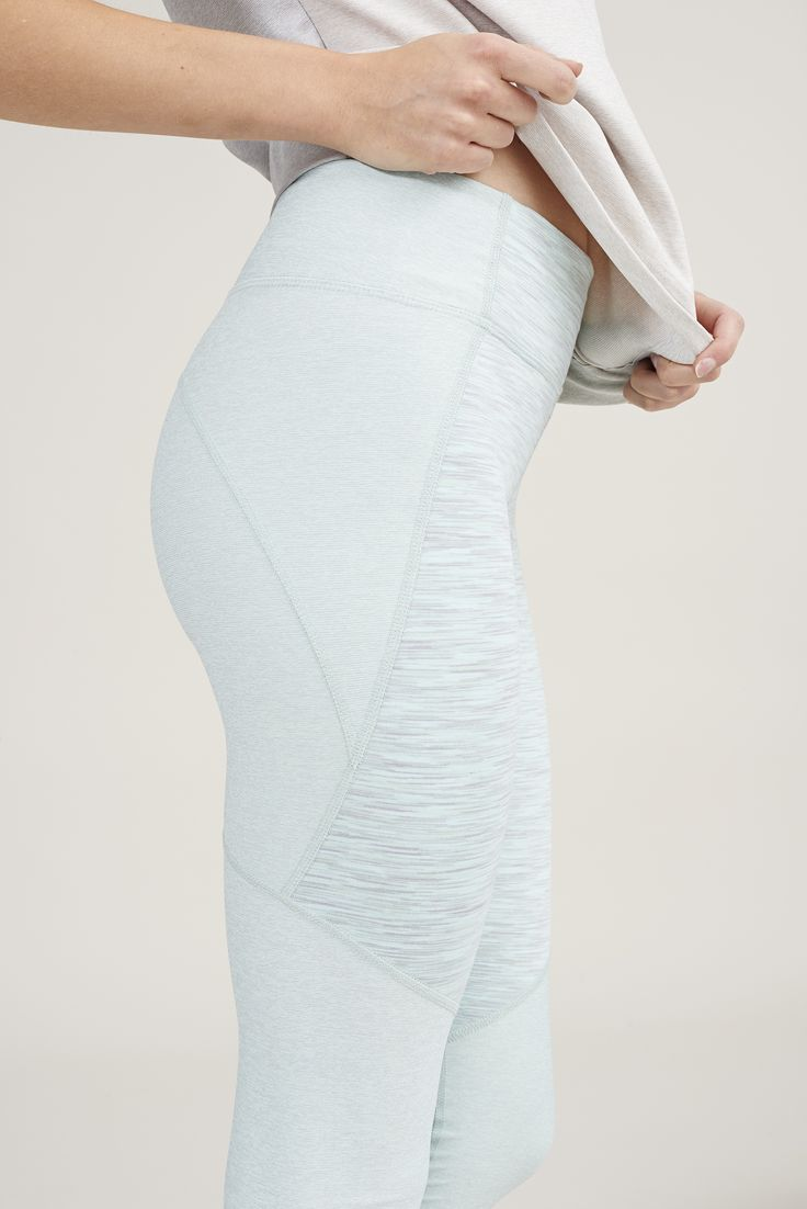 The Warmup Leggings in Mint & Seafoam from Outdoor Voices.