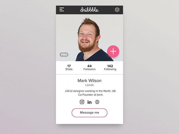 #DailyUI #006 Social Profile by Mark Wilson