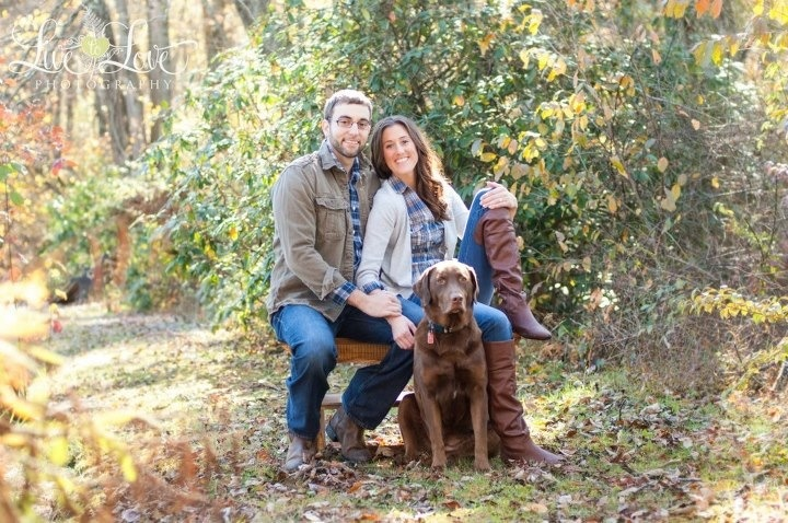 Fall engagement pics with our favorite pup ! Definitely have to have one with the dogs!