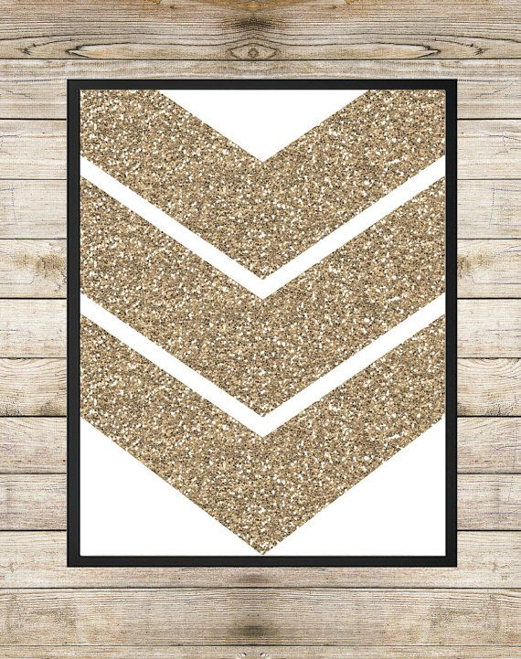 Gold glitter arrow holiday instant download printable art contemporary housewarming wall art decor - Sparkle wall decor ...