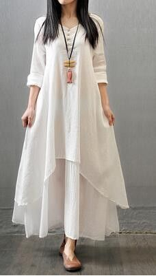 2017 Spring Autumn Women Dress Vintage Cotton Linen Plus Size Loose Plus size Dress Vestidos Elbise M-5XL Size