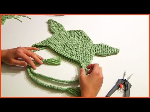 How to Crochet a YODA HAT Tutorial Step By Step - YouTube  For dad for his birthday