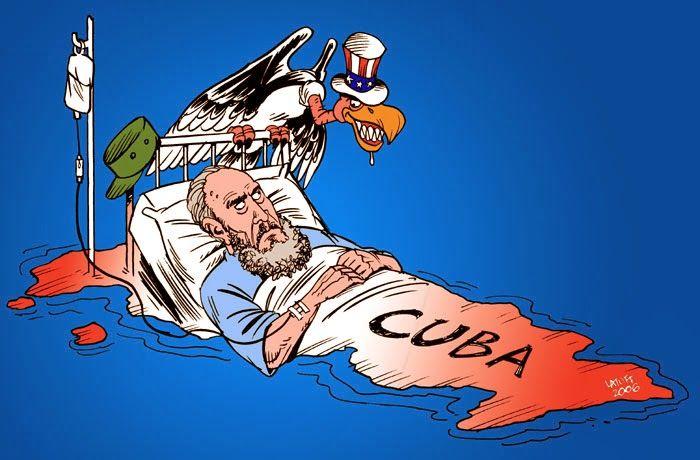 Caricatura n10. Imagen que representa la imagen de Castroante el poder estadounidense.