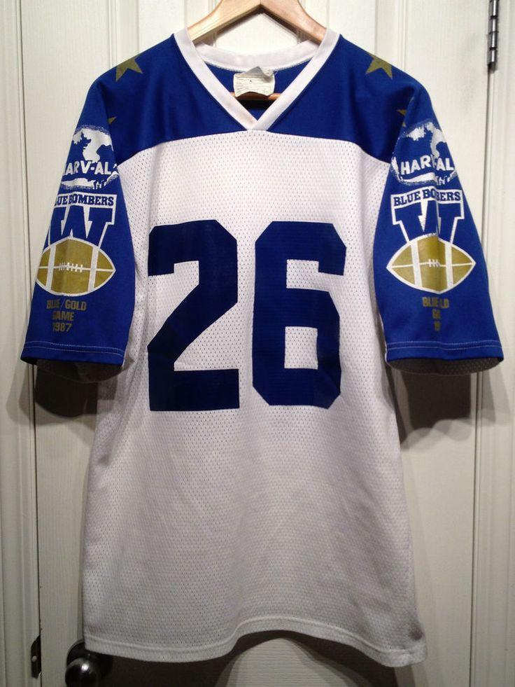 winnipeg blue bombers vintage 1987 blue & gold game cfl #Football jersey shirt m from $49.99