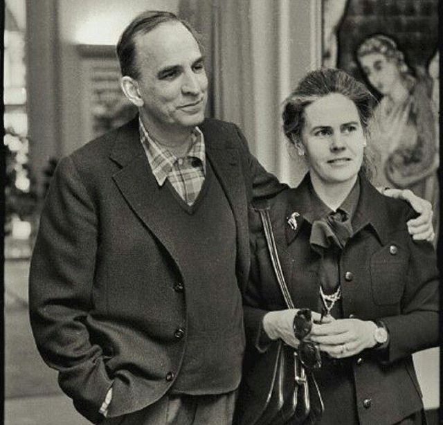 With his wife Ingrid Von Rosen, 1976