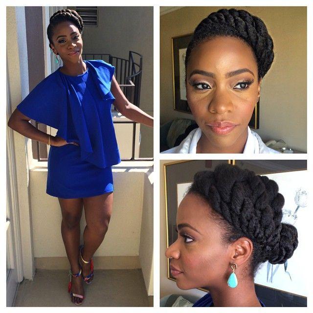 Press Day!! #DearWhitePeople #SurvivorsRemorse Hair- @lovingyourhair MUA- @savvystarbeauty Wardrobe- @toyeadedipe