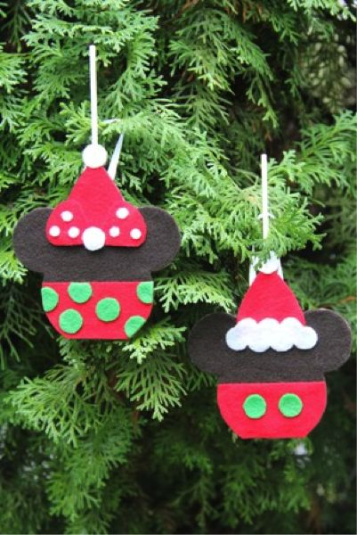 Mickey Mouse Candy Apple Christmas Tree Ornament