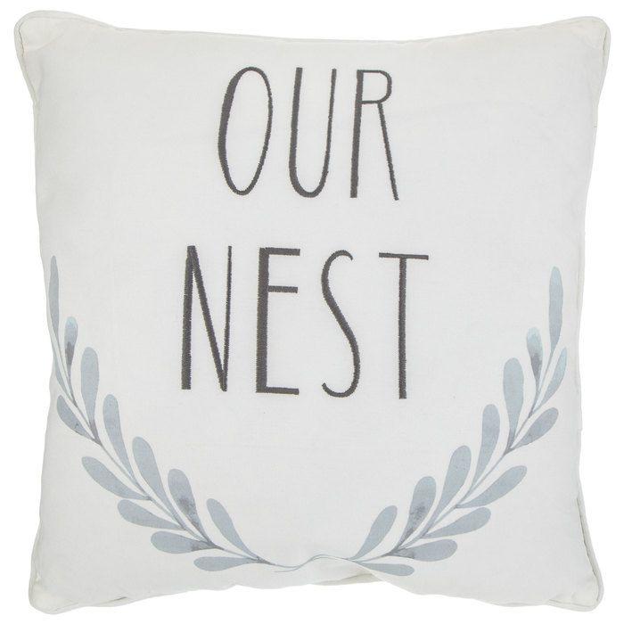Our Nest Laurel Pillow Hobby Lobby 1753201 Pillows Decorative Pillows Frame Decor