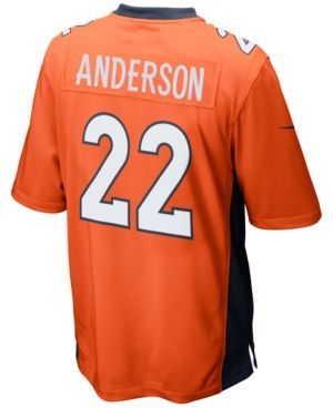 Nike Men's Cj Anderson Denver Broncos Game Jersey  - Orange L