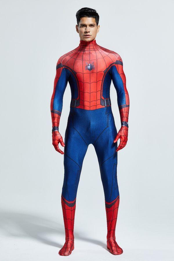 Spider-Man Homecoming Superhero Cosplay Zentai Halloween Costume Free Shipping