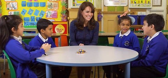 The Duchess of Cambridge supports Children's Mental Health Week 2016. (YouTube, Place2Be)