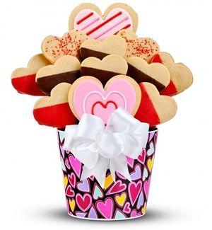My Sweet Valentine Cookie Bouquet | Valentines Day Cookies | Arttowngifts.com