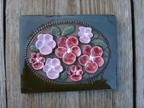 Original Vintage Jie Gantofta heavy wall Tile / by Luckytage, €16.90