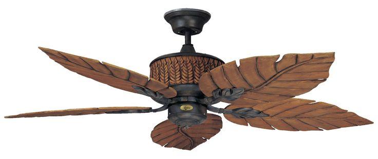 """Concord Fans 52"""" Fern Leaf Breeze Rustic Iron Outdoor Ceiling Fan"""