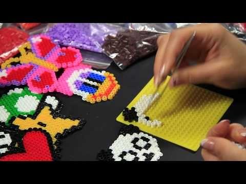 - Video Tutorial - Panda - Hama Beads Pyssla Perline Midi a termofusione - YouTube