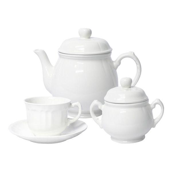 Juego de té por piezas Naranco Blanco San Claudio