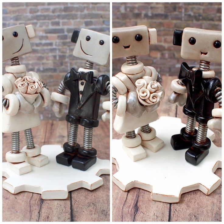 ICYMI added NEW robot wedding cake toppers to the shop this week   Handmade by HerArtSheLoves of Robots Are Awesome http://theawesomerobots.com