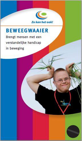 De #beweegwaaier is een direct resultaat van het kennisplatform Zo kan het ook! Het landelijk programma van het Nationaal Kenniscentrum Gehandicaptensport. Beweegteams en begeleiders in de zorg geven eenvoudige tips uit de praktijk om cliënten met een verstandelijke handicap te laten sporten en bewegen. Download de beweegwaaier via http://www.kennispleingehandicaptensector.nl/docs/KNP/KNP%20GS/Instrumenten/Beweegwaaier%20Zo%20kan%20het%20ook!.pdf
