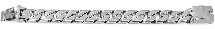 "Solid Curb Link 316L Stainless Steel Bracelet. 17mm. 10"" long. 316L Stainless Steel."