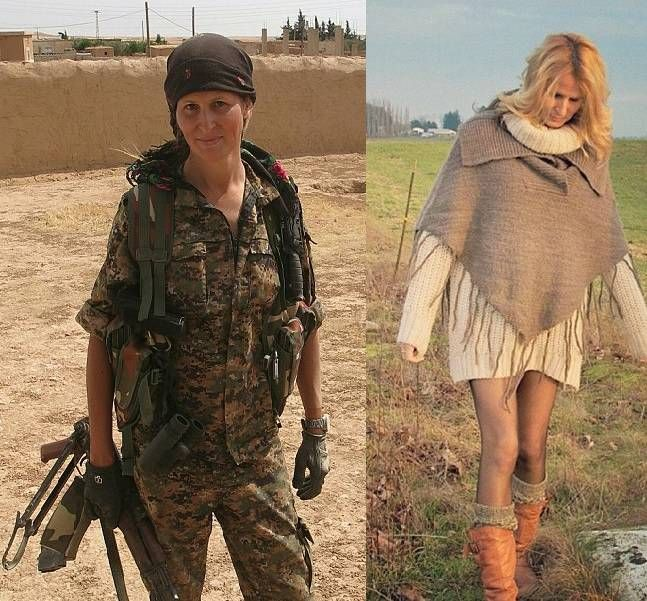 Canadian former model Hanna Tiger Böhman joined the Kurdish all-female military units, the YPJ, to fight so-called Islamic State.