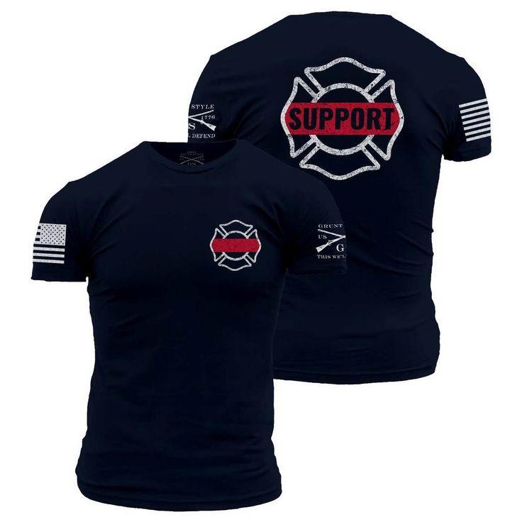 Support Firefighters Men's T-Shirt