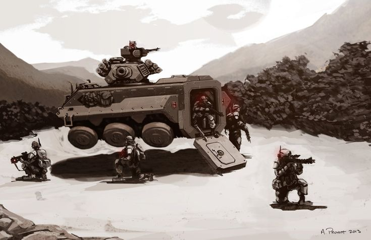 Hover APC on patrol by aaronprovost on DeviantArt