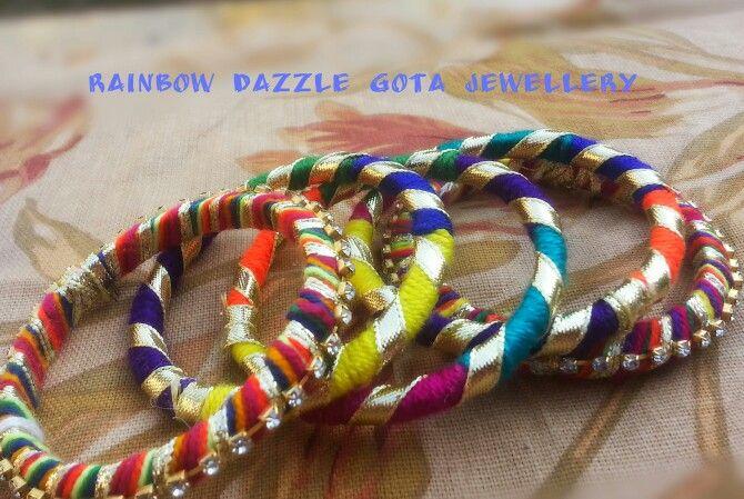 Funky handmade bangles