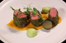 Picture of: Lamb Loin with Carrot, Onion and Peas
