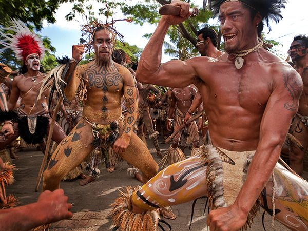 Tapati Rapa Nui Festival on Easter Island. Photo by Jay Dickman.
