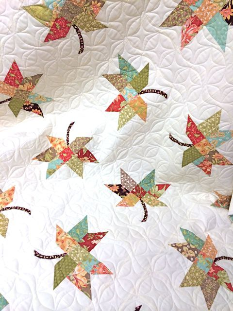 Twirl Quilt using Fig Tree fabric  Source:  Boughs of Holly blog