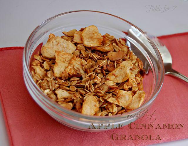 Apple Cinnamon Granola Cooker Recipe, Breakfast Ideas, Apples Cinnamon ...