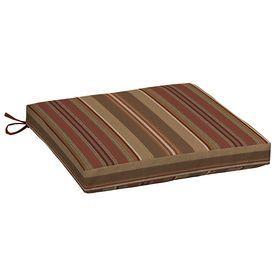 Allen + Roth Chili Stripe Seat Pad For Universal Ab13080b