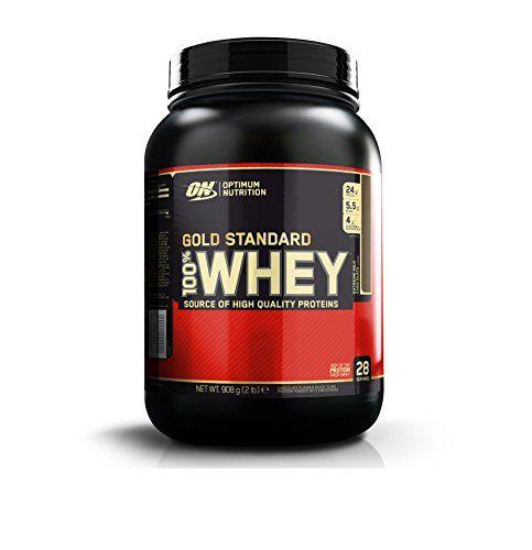 Optimum Nutrition 1054631 Gold Standard 100% Whey Suplemento para Deportistas, Sabor de Chocolate – 908 gr – Por Un Cuerpo Perfecto