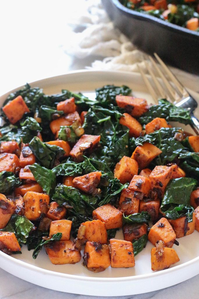 Sweet Potato and Kale Hash - vegan & gluten free