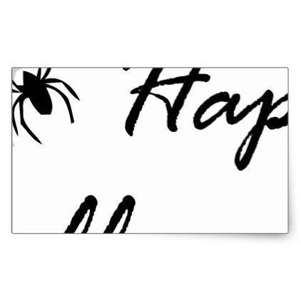 #spider and web rectangular sticker - #halloween #candy #craft #supplies #party #ideas #idea