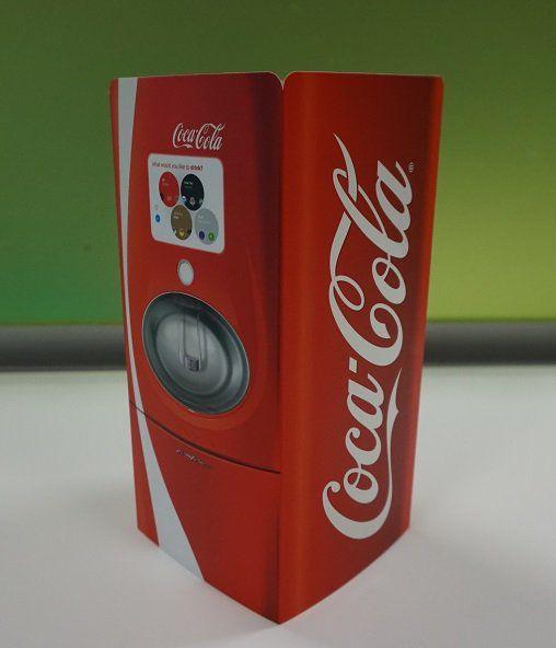 Coca-Cola table talker for @Charterhse - Litho printed, matt lamination and spot UV.