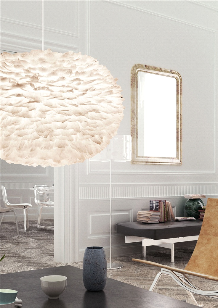 Älskar! Hade varit så fin i vårt sovrum!! Vita 'EOS XL' - http://www.shop.smaideer.com/belysning/eos-featherlamp-xl.html