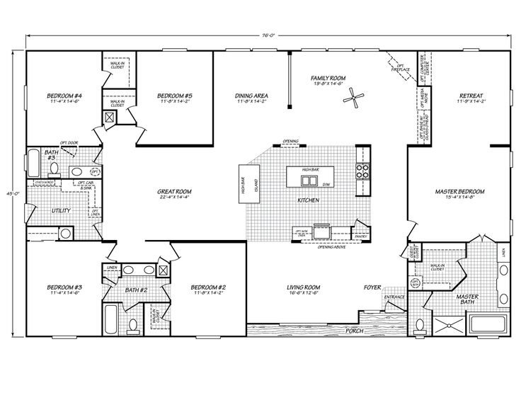 It might be a double wide floor plan but I love it it would be perfect everyone would have their own room !!