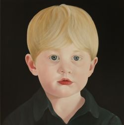 George, 2013, acrylic on board  My son painted by Penelope Boyd