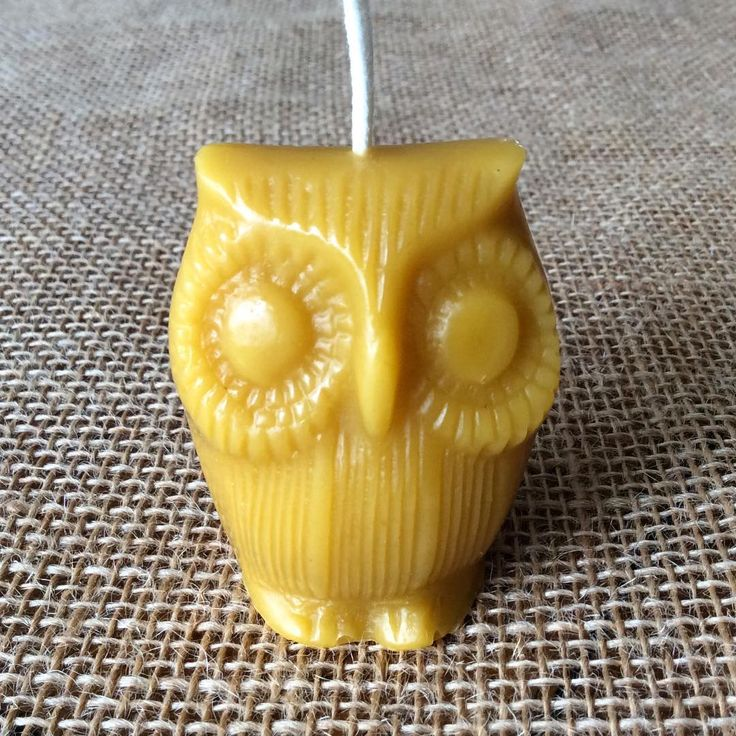Introducing our rather cute owl beeswax candle. This little chap is 5cm high and burns for at least 6 hours. He's made from pure beeswax.  #beeswaxcandle #candle #beeswax #picoftheday #savethebees🐝 #etsyshop #ElliesFarmShop #animalcandle #naturalcandle