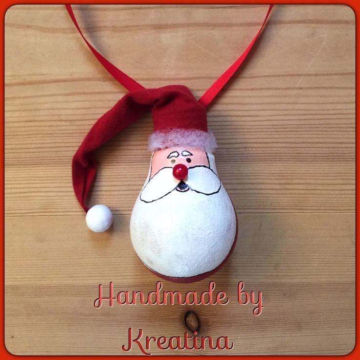 Julemand  Lavet af brugt el-pære