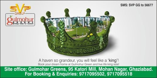 Gulmohar Greens by SVP Group – Redefining Luxurious Living the Affordable Way  Gulmohar Greens is one such prodigy that revitalizes 'living with the nature' concept. One gets greeted with lush green gardens and finds children playing in an unperturbed manner.