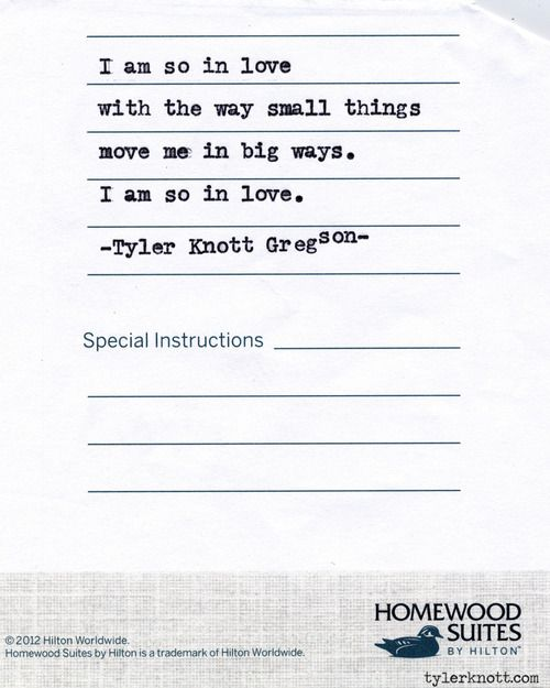 Typewriter Series #510 by Tyler Knott Gregson