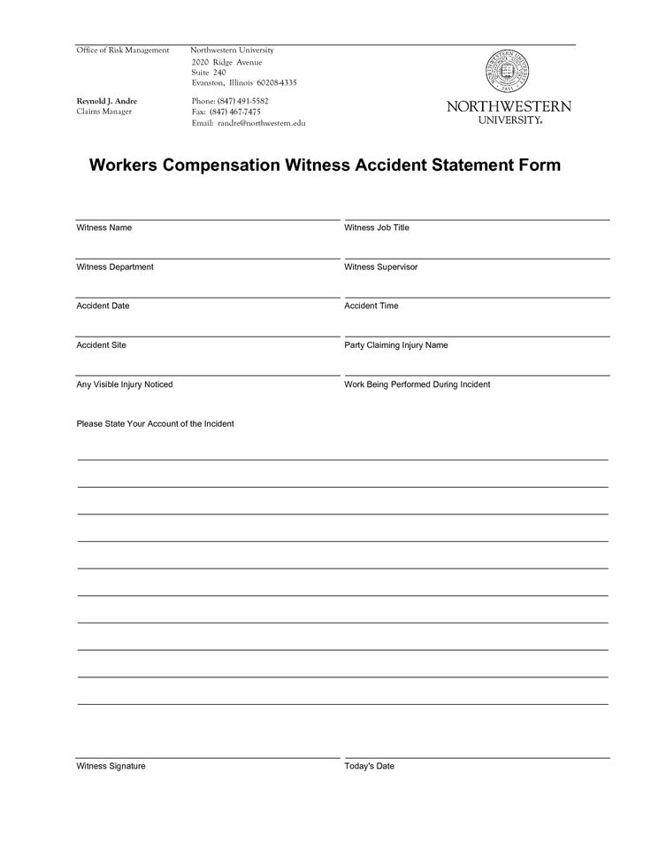 Witness Statement Form  Witness    Statement Template