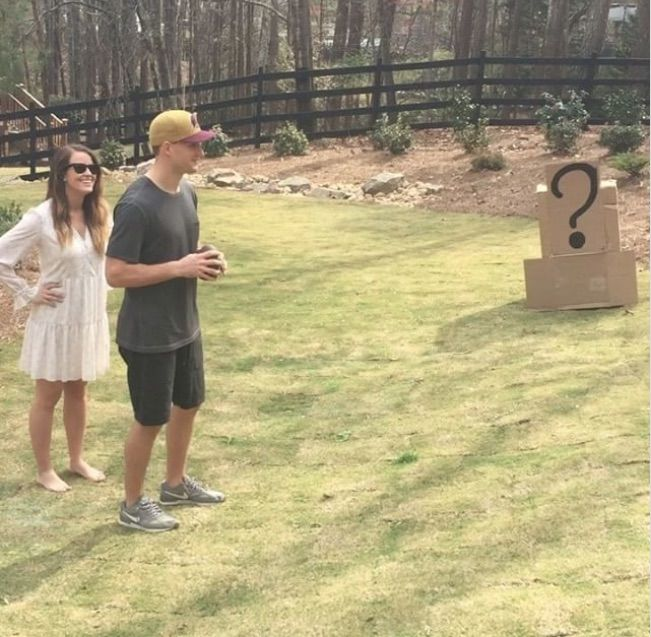 Kirk Cousins Almost Whiffs Toss for Baby's Gender Reveal