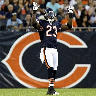 Devin Hester! I love the little dances he does before receiving the kick