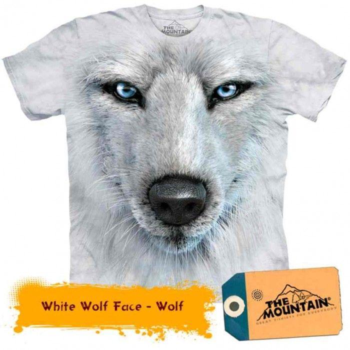 Tricouri The Mountain – Tricou White Wolf Face