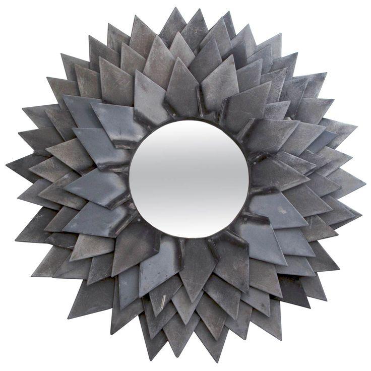Monumental Zinc Flower Petal Mirror Зеркало
