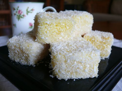 Lemon lamingtons - I have no idea what a lamington is, but I would not turn this down should it appear in front of me