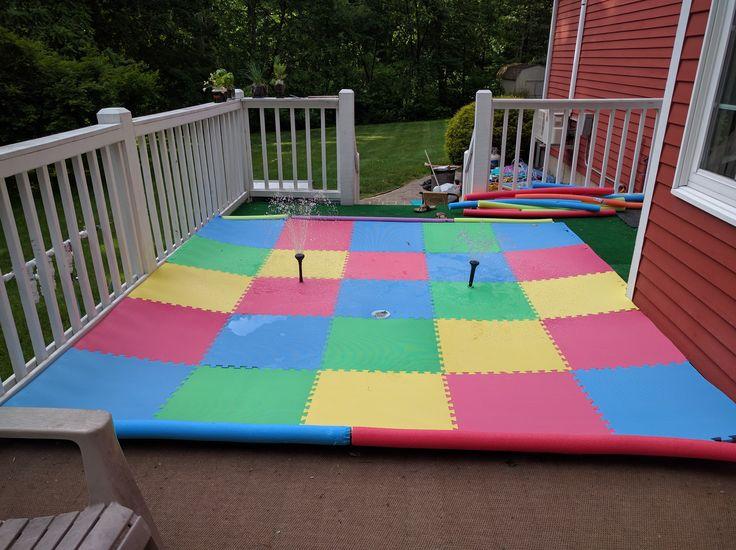 Homemade Splash Pad in 2019   DIY splash pad   Backyard ...